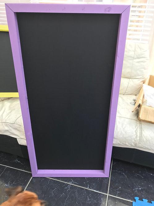 120x60 Chalkboard- Purple Pansy
