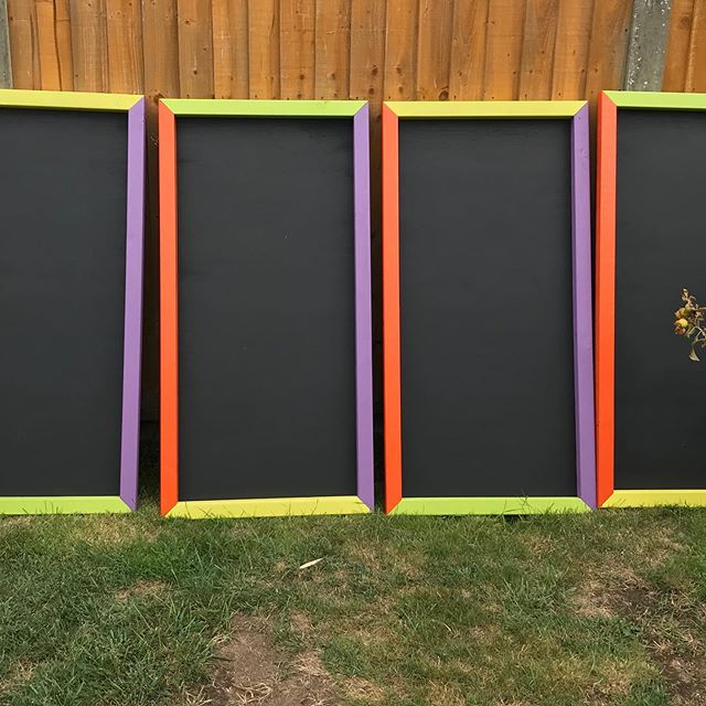 4 chalkboards made for a school