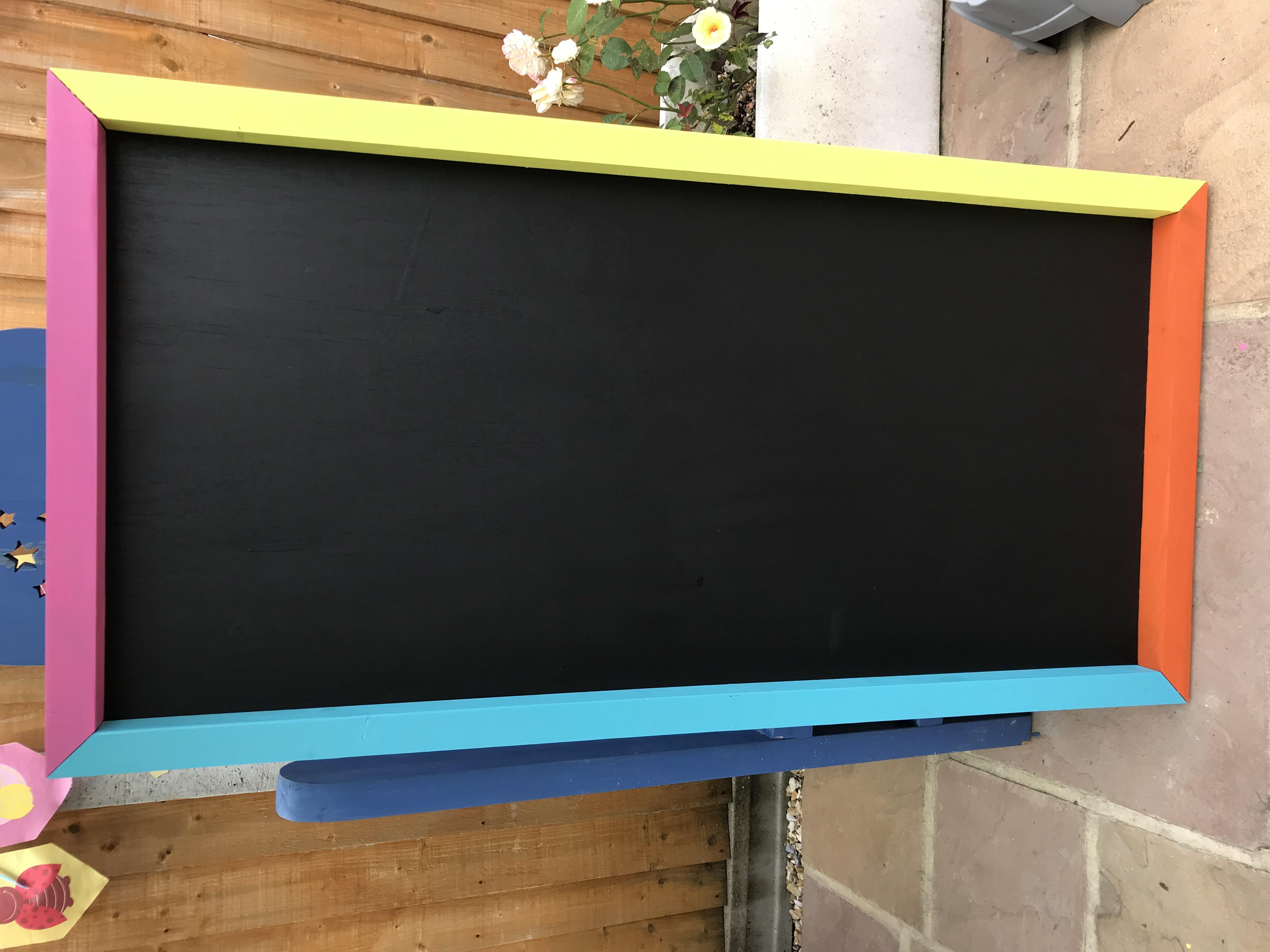 Multi colour 120 x60 chalk board