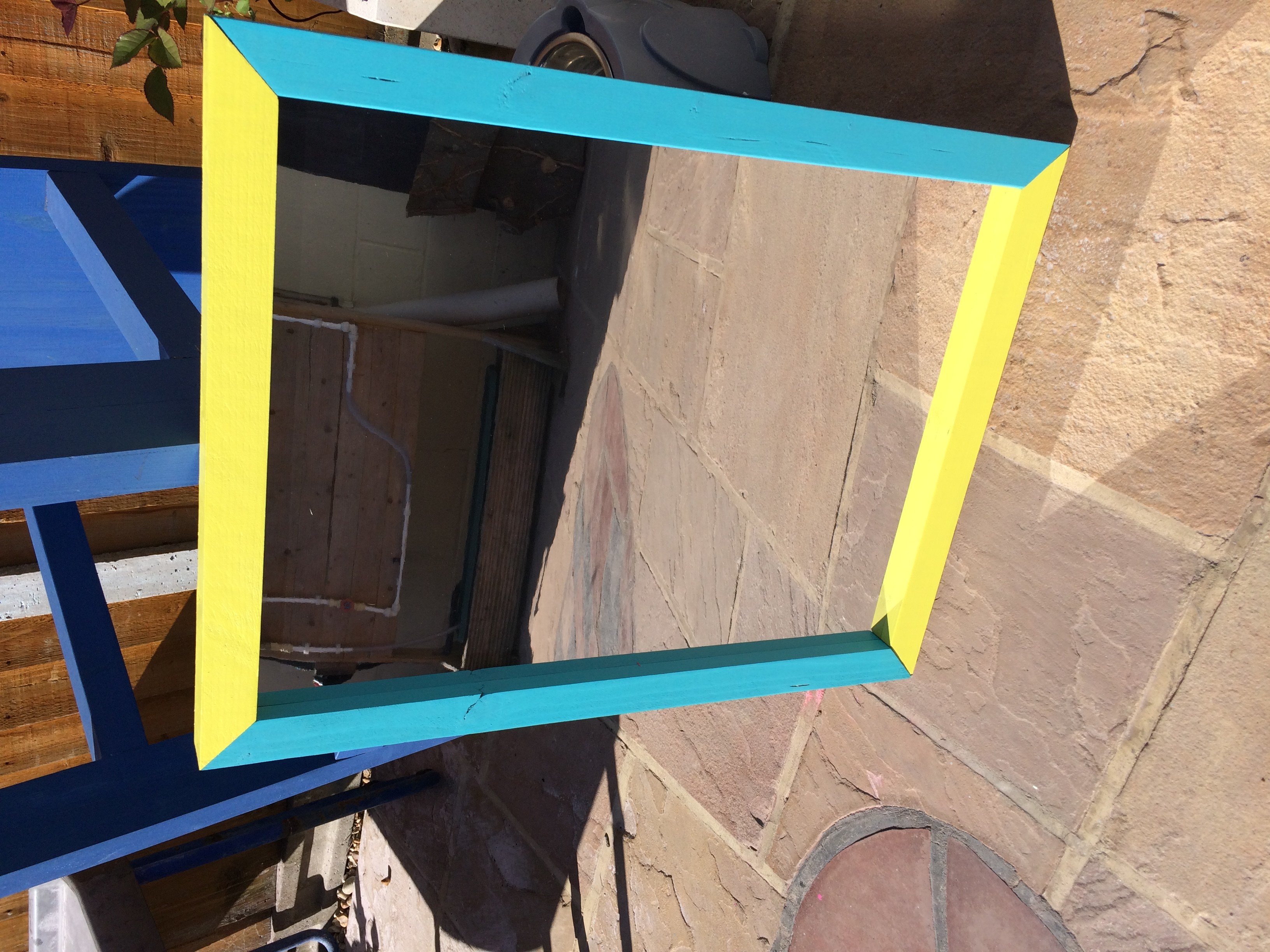 Mirror beach blue and yellow