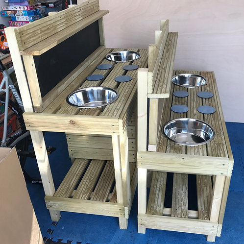 Extended height mud kitchen