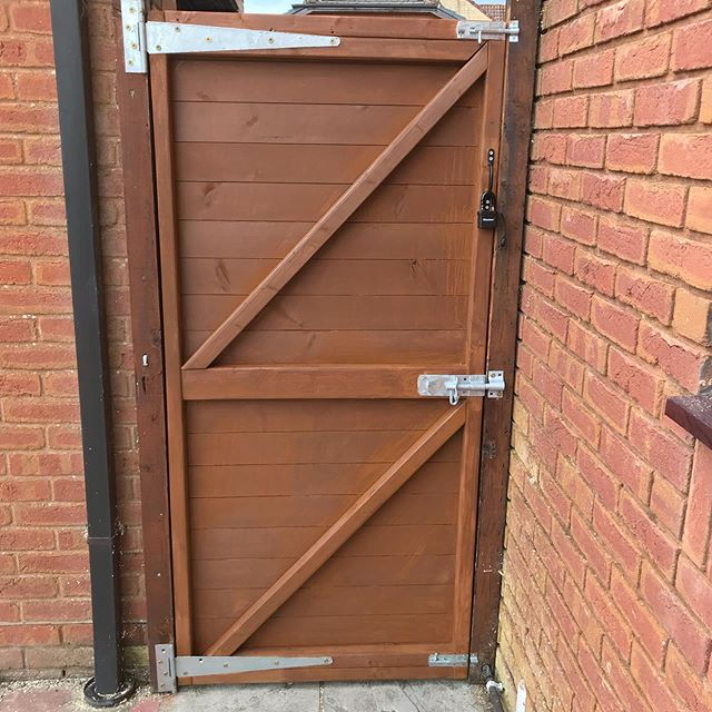 Back gate made to customers specificatio
