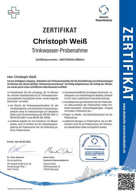 Zertifikat Trinkwasser Probenentnehmer-1