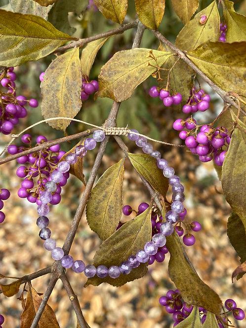 Amethyst Sparkle Adjustable Bracelet