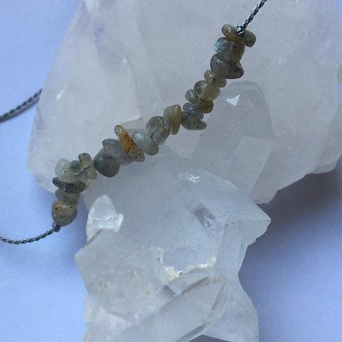 labradorite crystal chip necklace