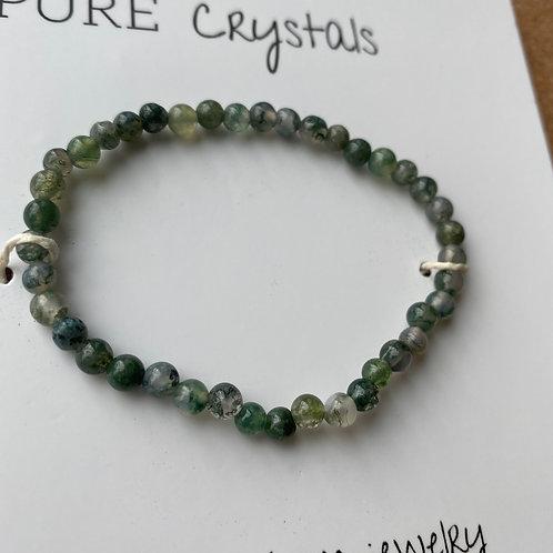 Moss Agate Mini Bracelet