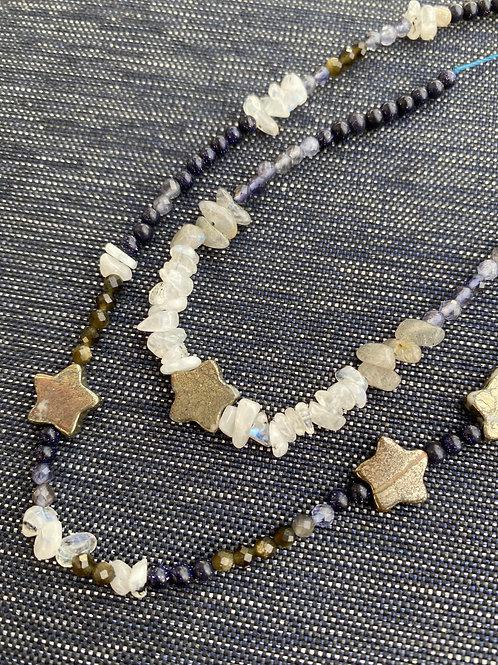 blue crystal necklaces