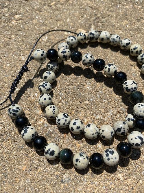 Dalmatian Jasper XL Bracelet
