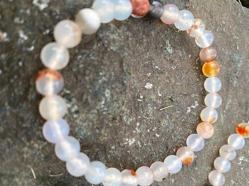 Dendritic Agate stretch bracelet