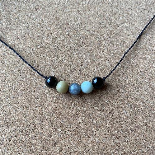 Amazonite and Onyx Necklace