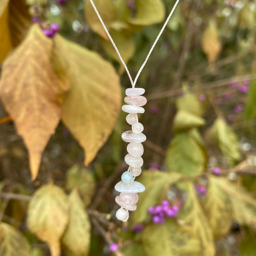 beryl gemstone necklace
