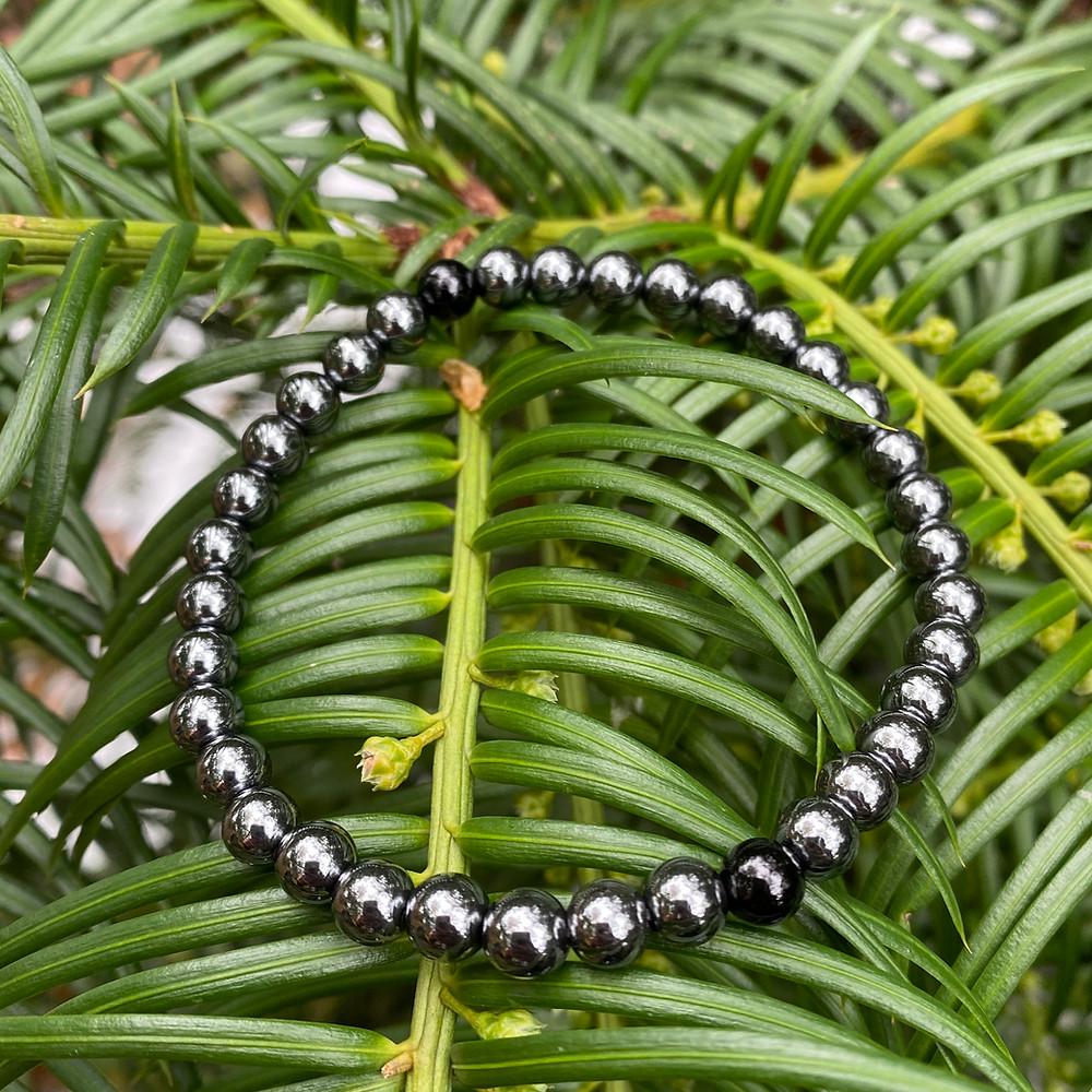 hematite onyx stretch bracelet