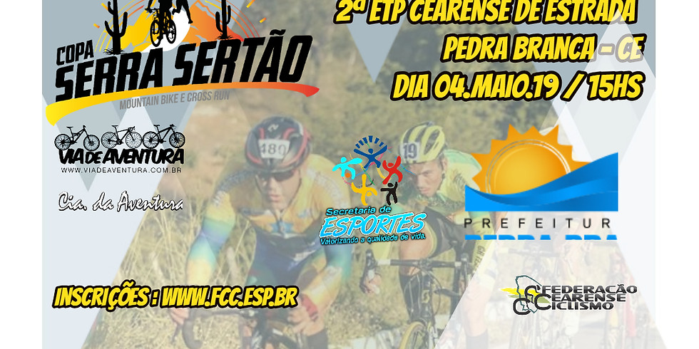 2ª Etapa do Campeonato cearense de Ciclismo de Estrada 2019 - Pedra Branca - CE