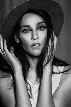 Kate face BW