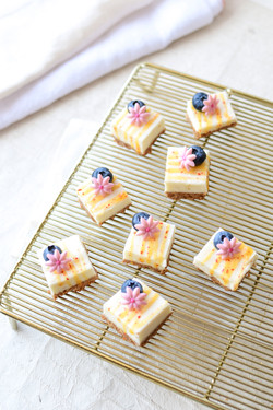 Blueberry Passionfruit Cheesecake Bars