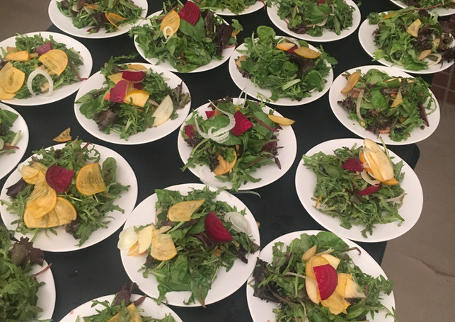 Salad for seated dinner