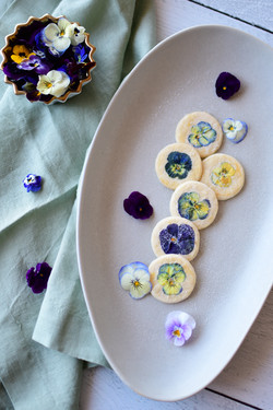 Violet Shortbread Cookies(6)