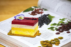 Cassis and Violet Cake