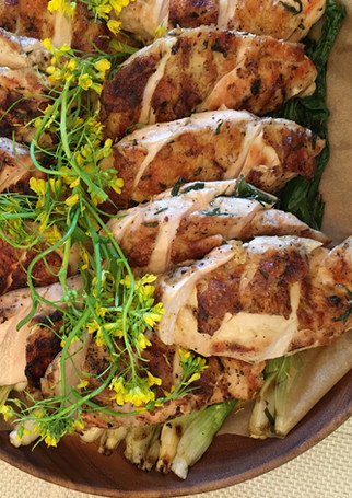 Grilled Organic Chicken with Citrus Thyme