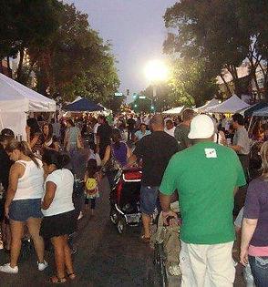 open air event downtown merced