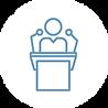 icon-person at podium