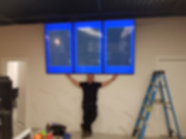 commercial display installation