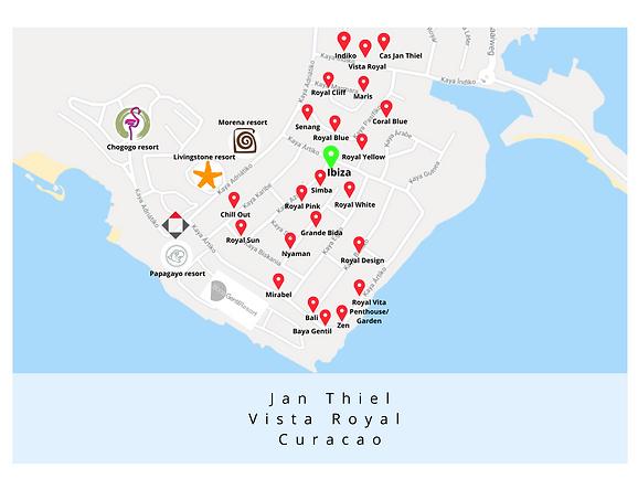 Map Ibiza Jan Thiel Vista Royal Curacao