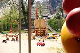 Das Außengelände der Kindertagesstätte Hexenkessel Krefeld