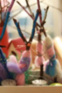 Kreativarbeiten Deko Ostern Kindertagesstätte Elterninitiative Hexenkessel Krefeld