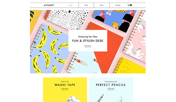 Kunst og håndverk website templates – Stationery Online Store