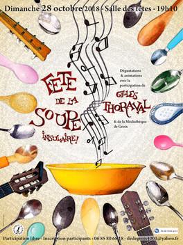 Fête de la soupe insulaire: dimanche 28 octobre 19h10!