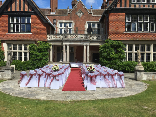 Elmers Court Hotel wedding Lymington