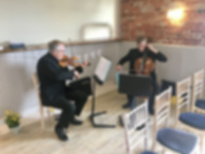 Hampshire wedding string duo