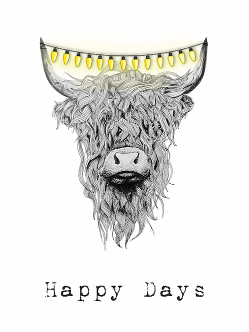 X-MAS CARD: Highland Cow
