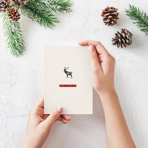 XMAS Card - Deer