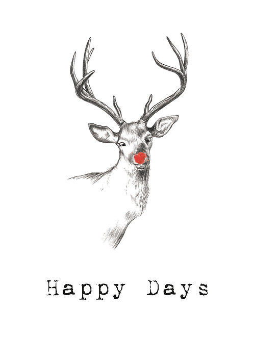 X-MAS CARD: Deer