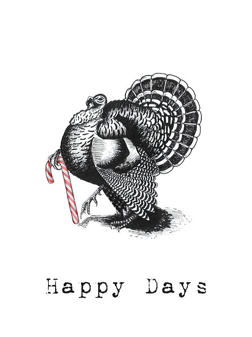X-MAS CARD: Turkey