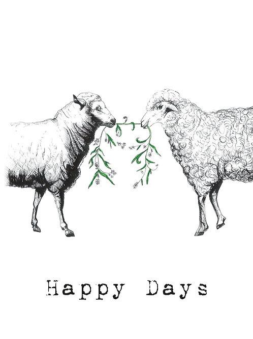 X-MAS CARD: Sheep