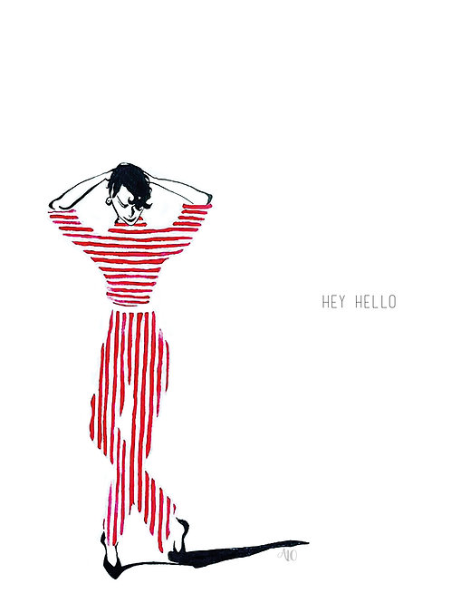 'Hey Hello' Card on A6