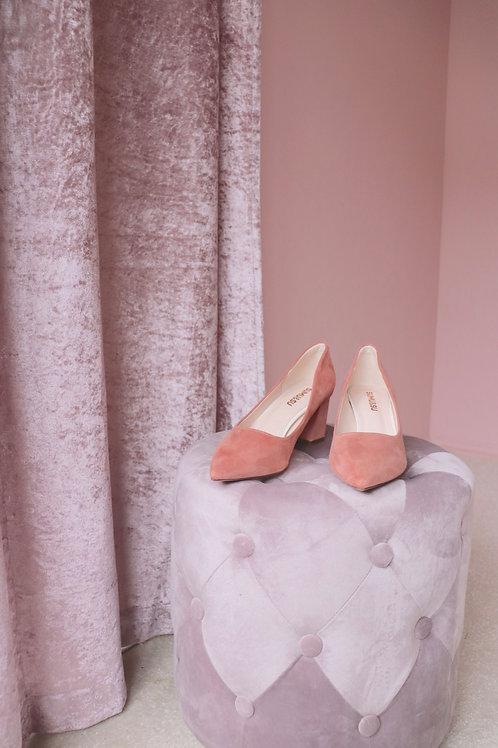 Pink Mid Heels