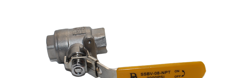 """SSBV-08-2000-NPT 1/2"""" Stainless Steel Ball valve"""