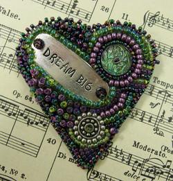 Heartfelt Words Embroidery Pin