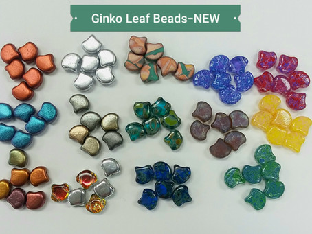 OMG!  Ginko Leaf Beads are here!  Love these...