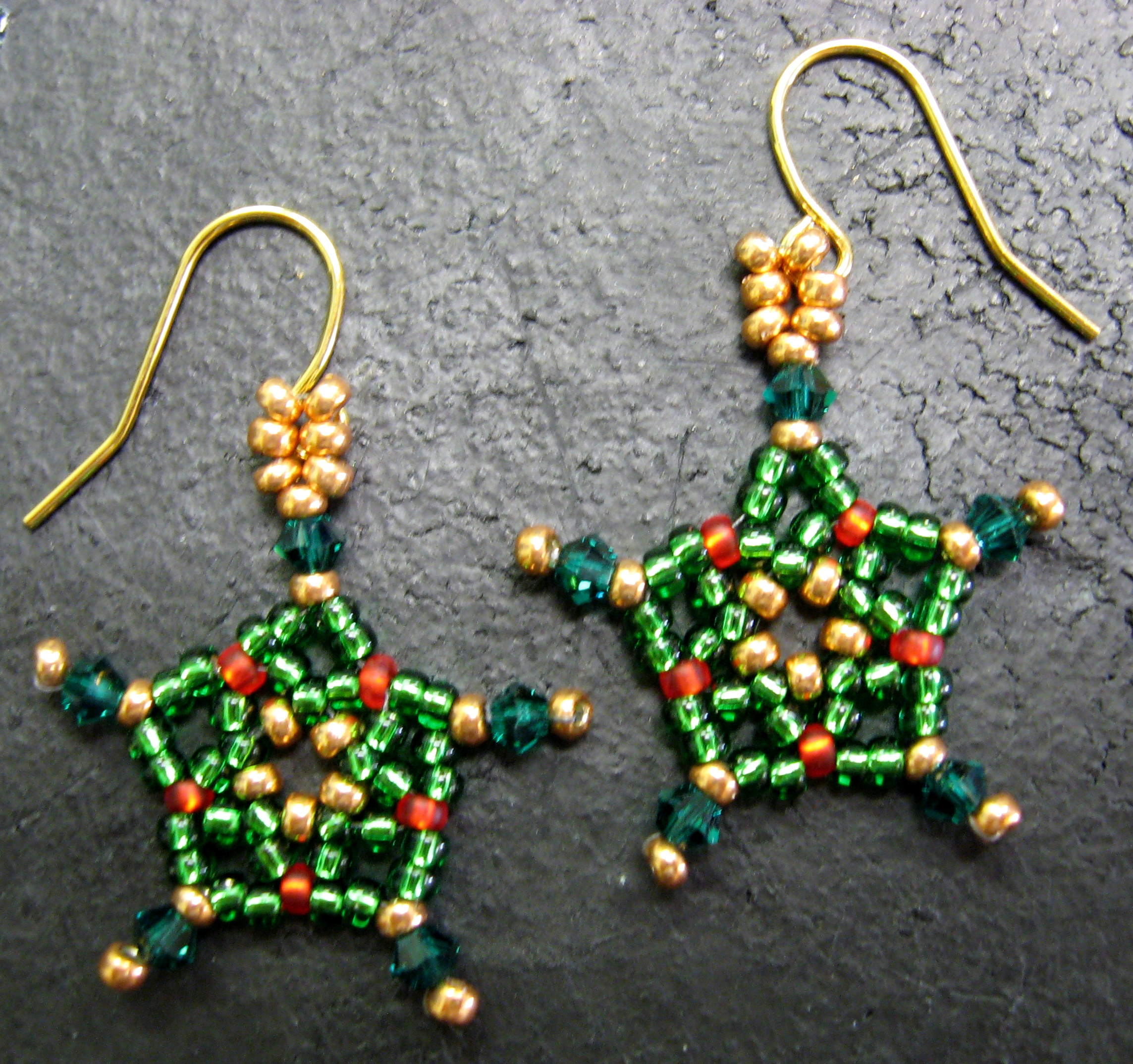 Xmas Star Earrings