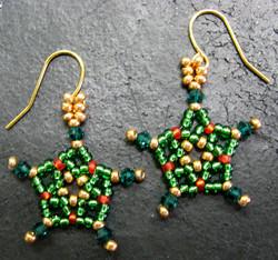 Xmas Star Earrings
