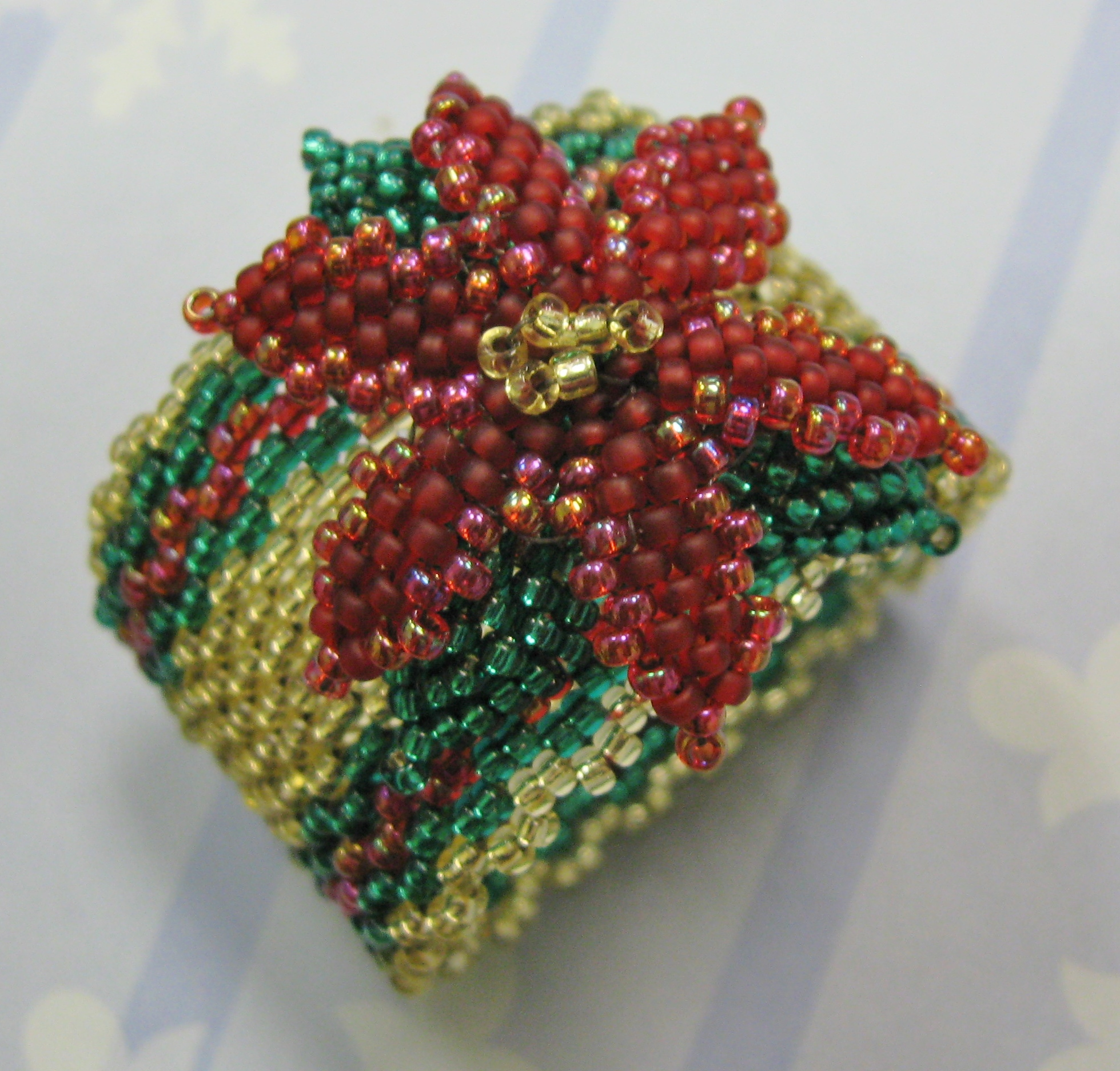 Pretty Poinsettia Napkin Ring