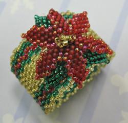 Pretty Poinsettia Napkin Ring