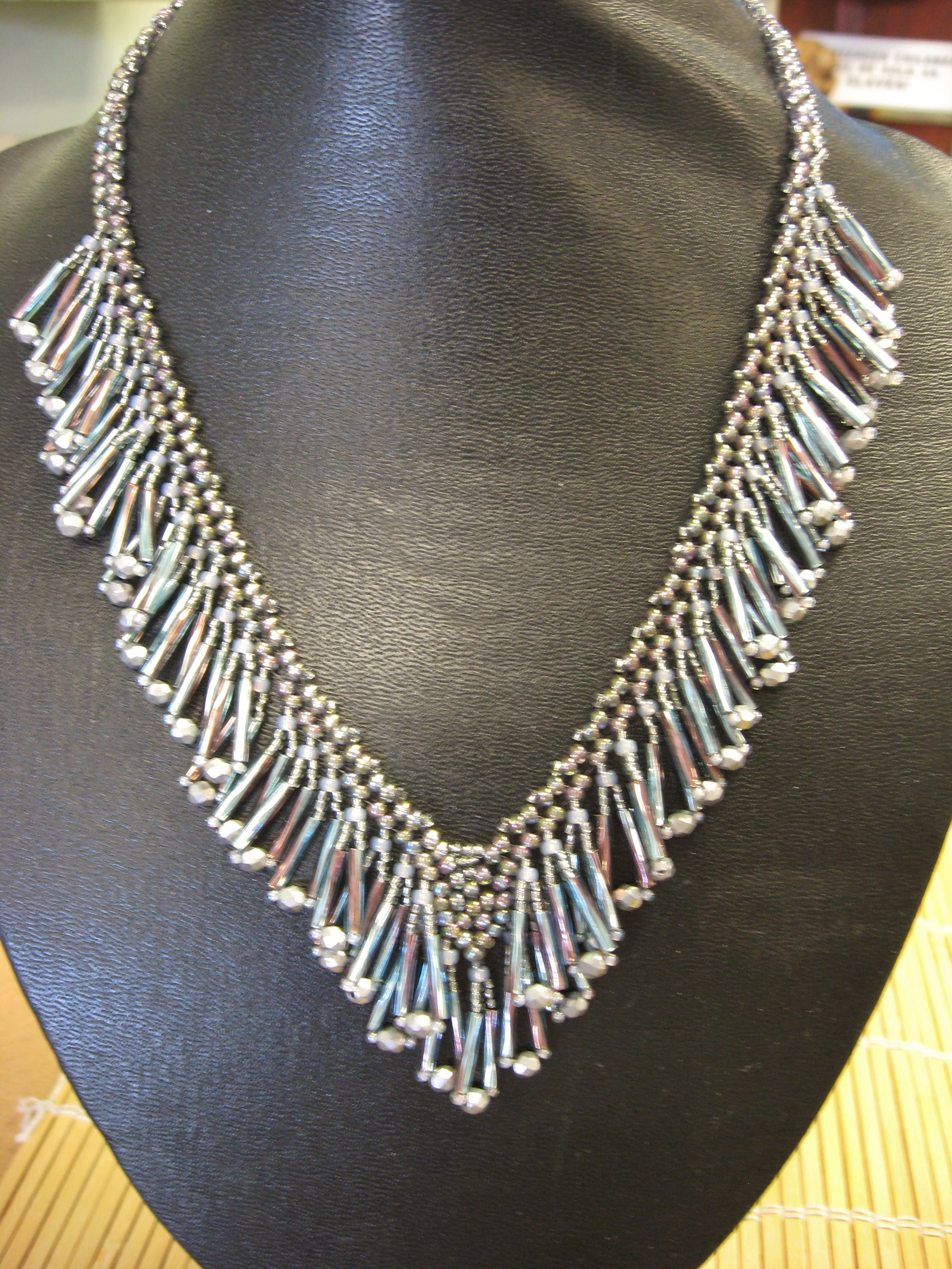 Bugle Fringe Necklace