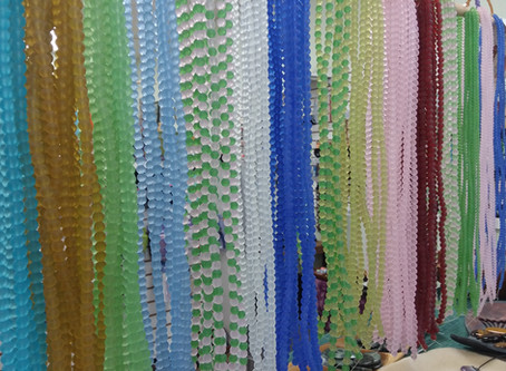 "New Sea Glass Beads-Only $5 for a 16"" strand!  Frosted & in many colors! 4mm & 6mm roun"