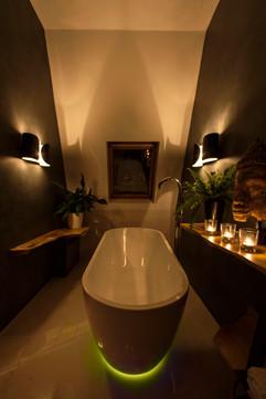 Bathroom at night